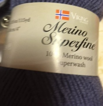 Merino superwash-lavendelblå