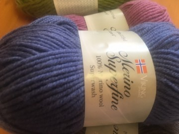 Merino superwash Lavendel blå